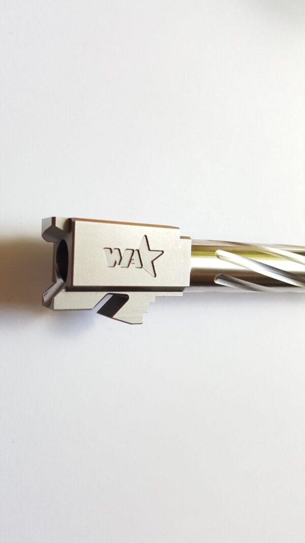 G19 ss spiral fluted threaded barrel logo