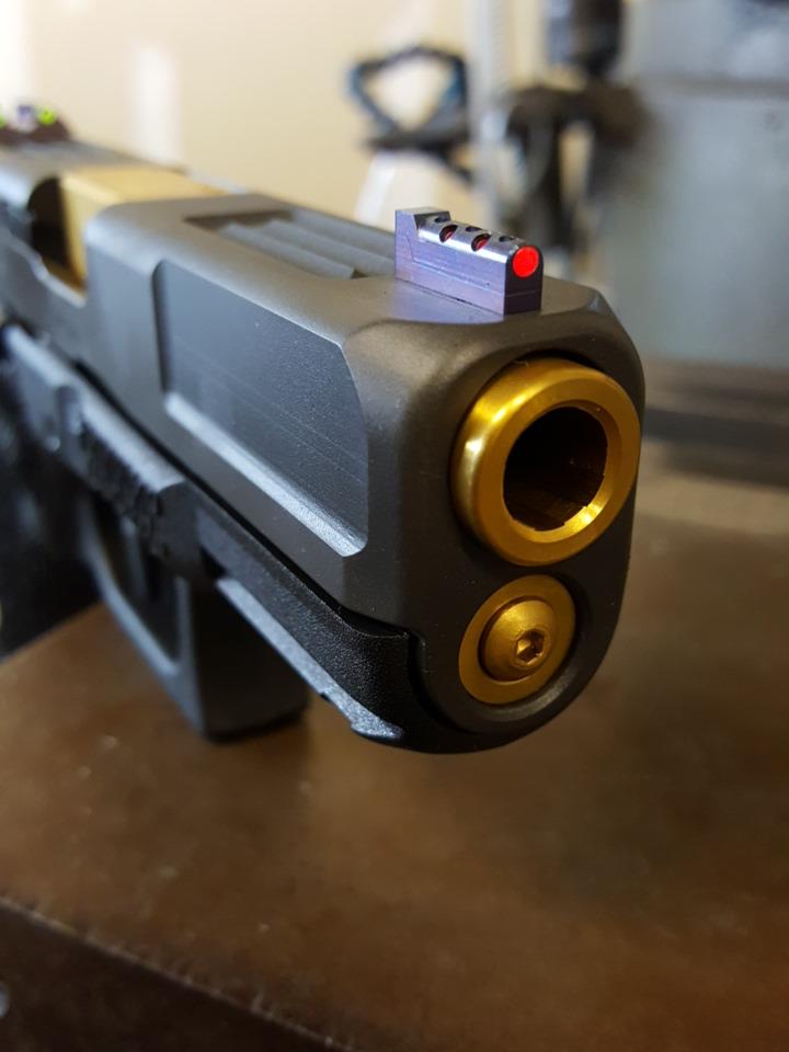 Wahrheit 450 Pro Titanium Fiber Optic Sight Set