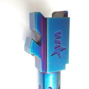Glock 19 Blue Spiral Fluted Barrel 1
