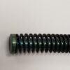 Cobalt Blue Guide Rod for Glock 17 with flat wound recoil spring