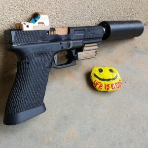Wheaton Arms TiN Gold Match Grade Barrel & silencerCo Omega 9K suppressor
