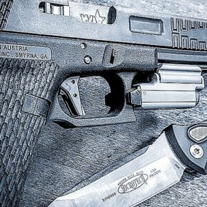 Wheaton Arms Enhanced Glock 17 with Olight & Microtech
