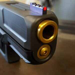 Wheaton Arms Glock 19 Gold barrel, guiderod & Wahrheit sights
