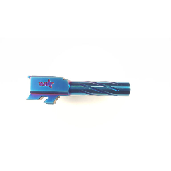 Wheaton Arms Match Grade Barrel Cobalt Blue Finish Fits Glock 43 43X 3