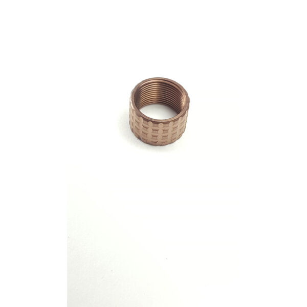 13 Thread Protector fits 9 16 x 24 TPI Frag Pattern Copper Finish 2